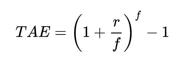formula tae