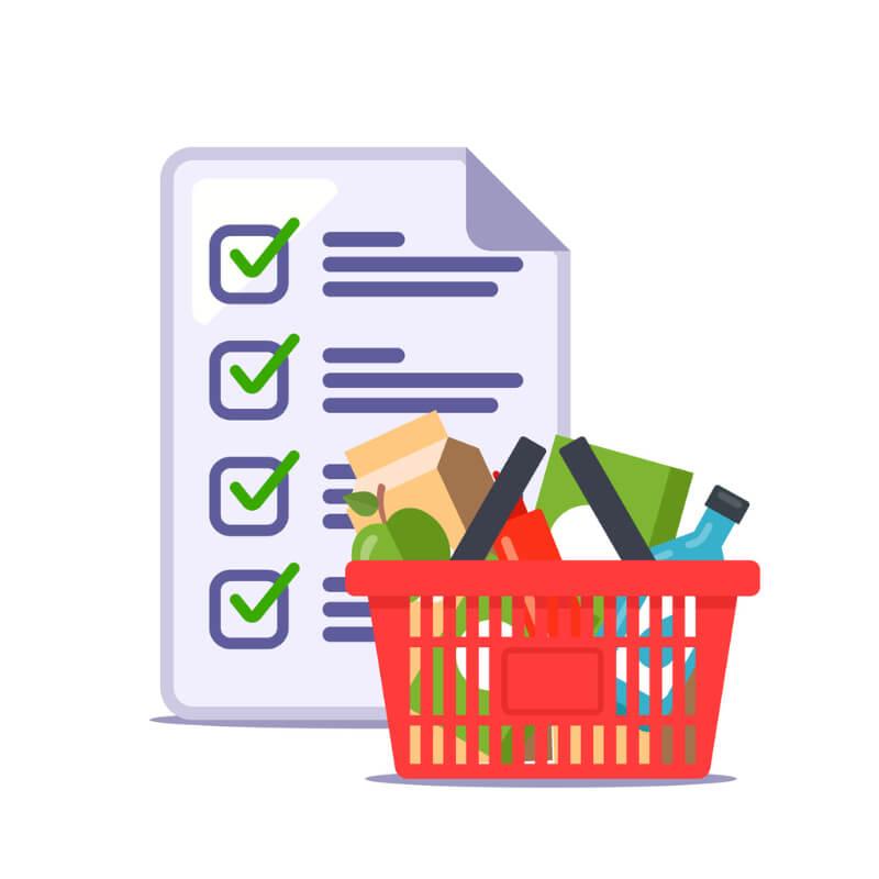 hacer lista de la compra