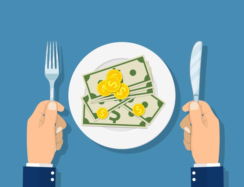 cuanto gasta una persona en comida al mes